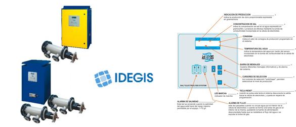 Clorador Salino Idegis de la gama Industrial D-250 y D-450