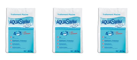 Sal para Cloradores Salinos AquaSwim Acti +