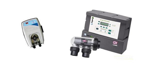 Clorador Salino CTX SalExpert VX 75 + Bomba Dosificadora de pH Digital Aqua