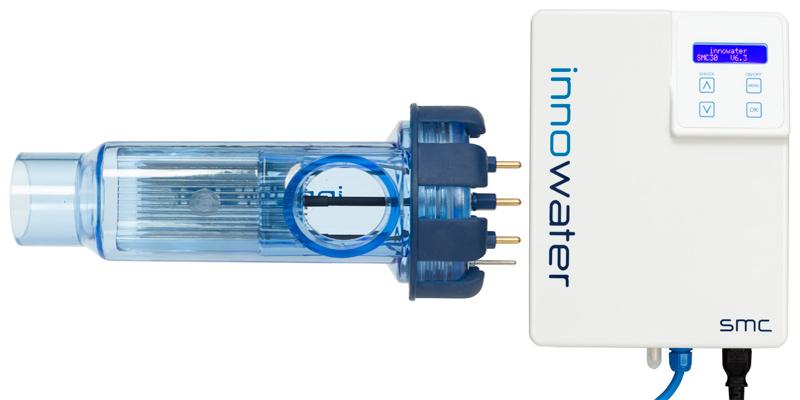 cuadro, carcasa y célula del clorador salino smc 10 de innowater